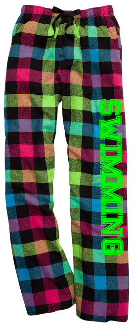 Swimming Neon Flannel Pants