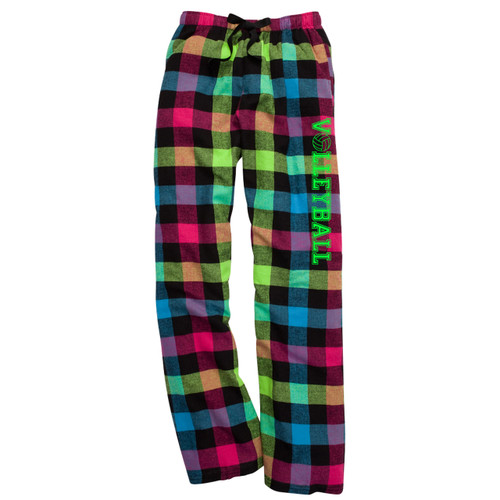 Volleyball Neon Flannel Pants