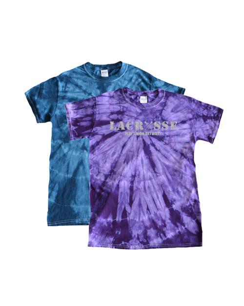 """Lacrosse Tie Dye T-Shirt """"Lacrosse"""" Metallic Logo"""