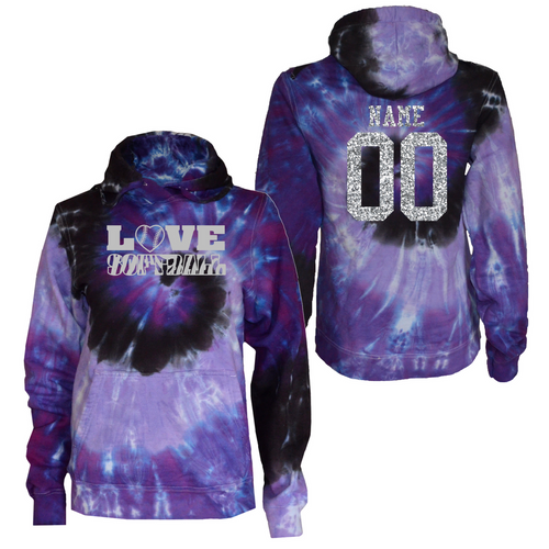 74e21c56cf2 Softball Purple Tie Dye Sweatshirt