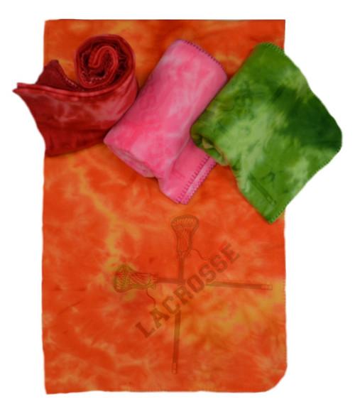 Lacrosse Tie Dye Blanket