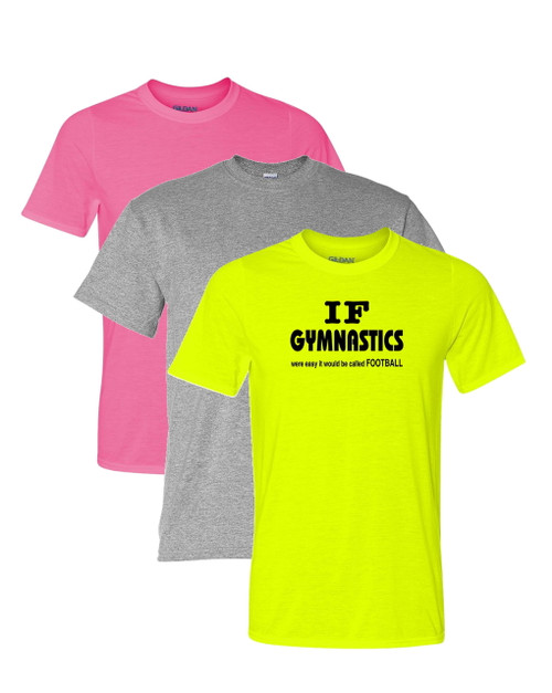 "Gymnastics Solid T-Shirt ""If Gymnastics..."" Black Logo"