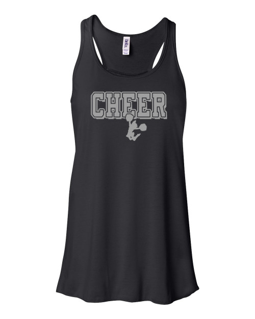 "Cheerleading Flowy Tank ""Cheer"" Metallic Logo"