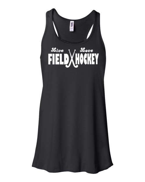 "Field Hockey Flowy Tank ""Live Love"" Logo"