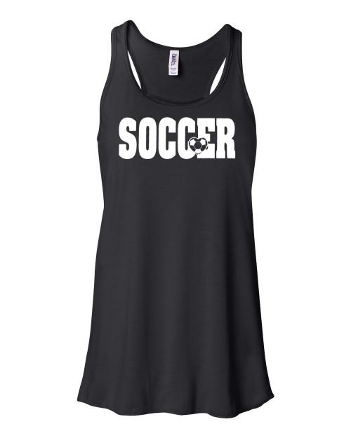"Soccer Flowy Tank ""Soccer"" Logo"