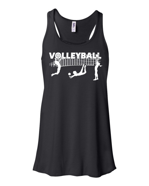"Volleyball Flowy Tank ""Players with Net"" Logo"