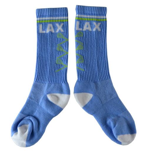 Lacrosse Periwinkle/Lime Socks