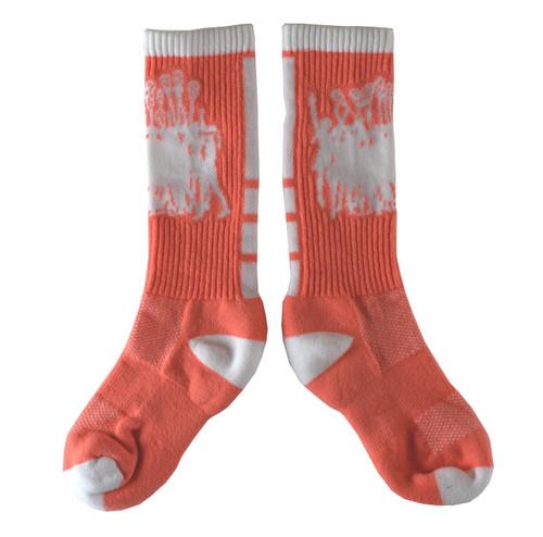 Lacrosse Coral/White Socks