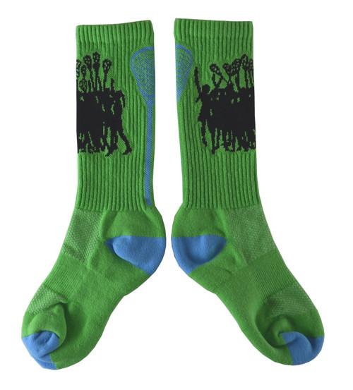 Lacrosse Lime/Periwinkle Socks