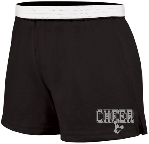 Cheer Soffe Short with Silver Logo
