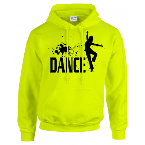 "Dance Optic Yellow Sweatshirt ""Splatter"" Logo"