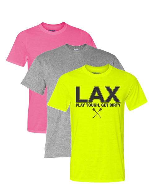 "Lacrosse Solid T-Shirt ""LAX"" Logo"