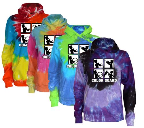 "Color Guard Tie Dye Sweatshirt ""Square"" Logo"