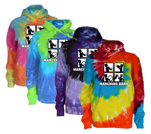 "Marching Band Tie Dye Sweatshirt ""Square"" Logo"