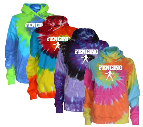 Fencing Tie Dye Sweatshirt