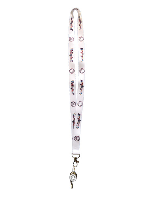 Volleyball Lanyard and Whistle