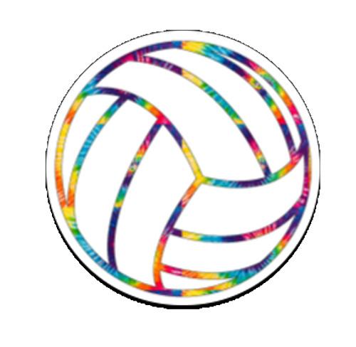 Volleyball Tie Dye Sticker