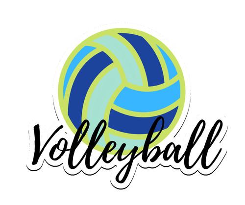 Volleyball Script Sticker