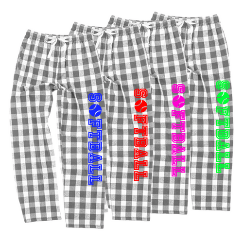 Softball Oxford Flannel Pants for Girls