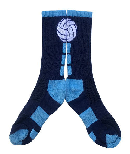 Navy and Columbia Blue Volleyball Socks