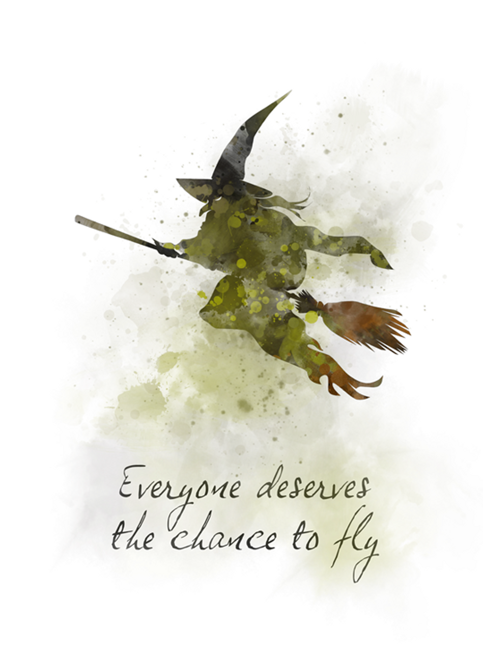Wicked Quote ART PRINT Elphaba, Musical, Theatre, Broadway, West End, Gift,  Song, Wall Art, Home Decor