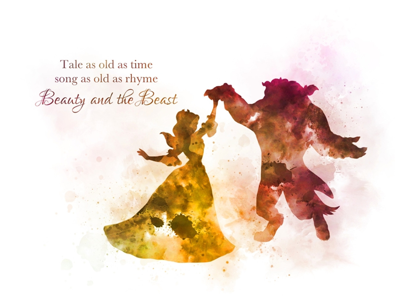 Beauty And The Beast Dance Quote Art Print Tale As Old As Time