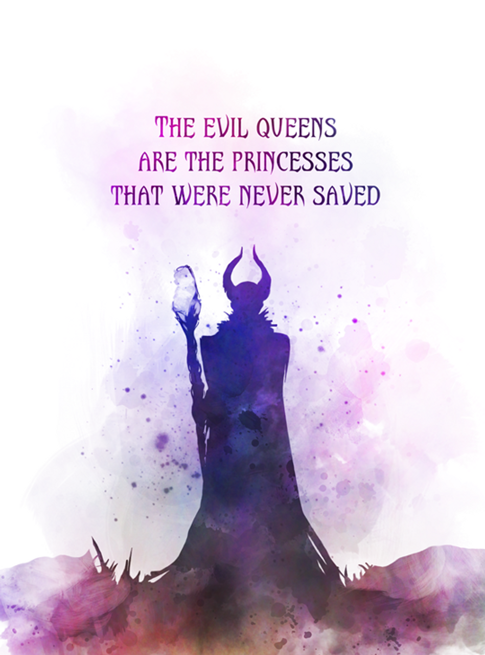 Maleficent Quote Art Print Sleeping Beauty Queen Princess Fairy Tale Gift Wall Art Home Decor