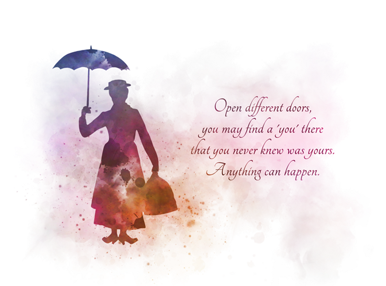 Mary Poppins Quote Art Print Open Different Doors