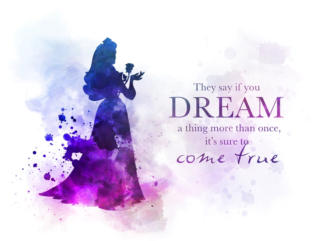 Sleeping Beauty Quote ART PRINT Aurora 21049b75ff7