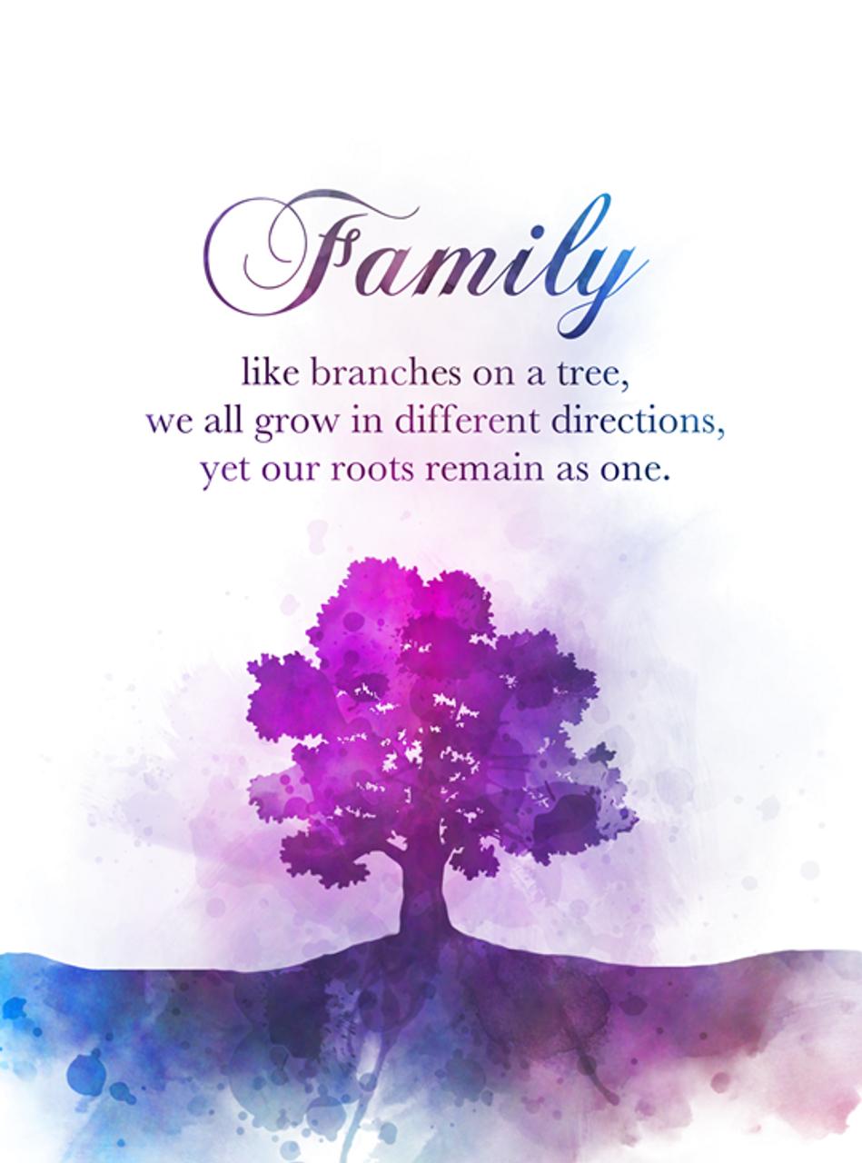 Tree Family Quote ART PRINT Inspirational, Gift, Nursery, Wall Art, Home  Decor