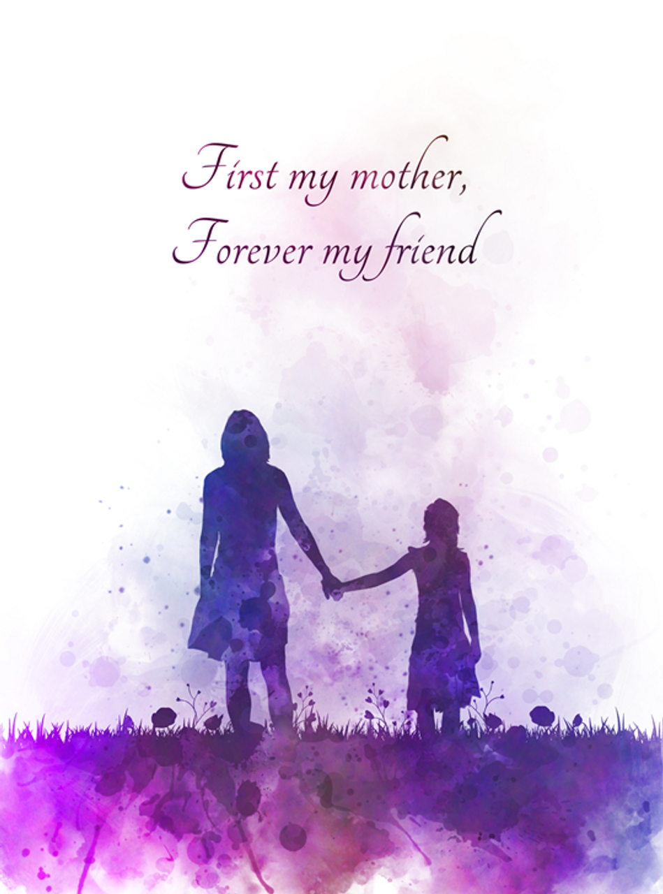 Mother And Daughter Quote Art Print Inspirational, Mothers -6540