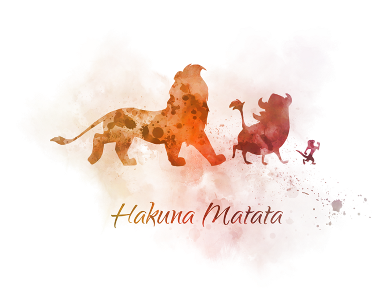 The Lion King Quote ART PRINT Hakuna Matata, Nursery, Gift ...