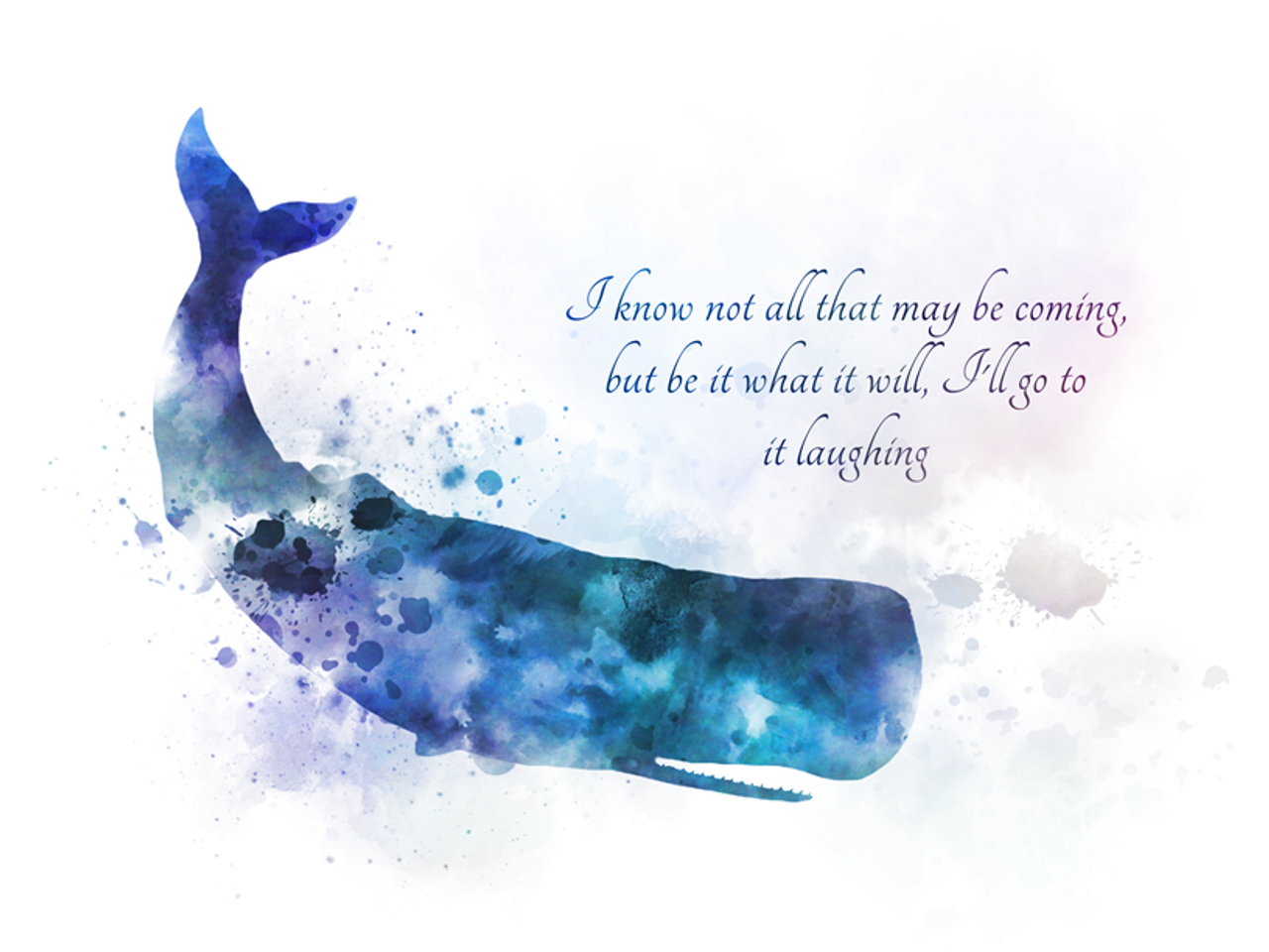 moby dick quote art print whale literature inspirational gift