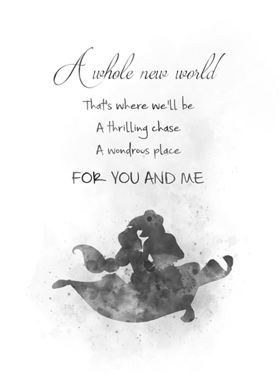 Aladdin quote black and white