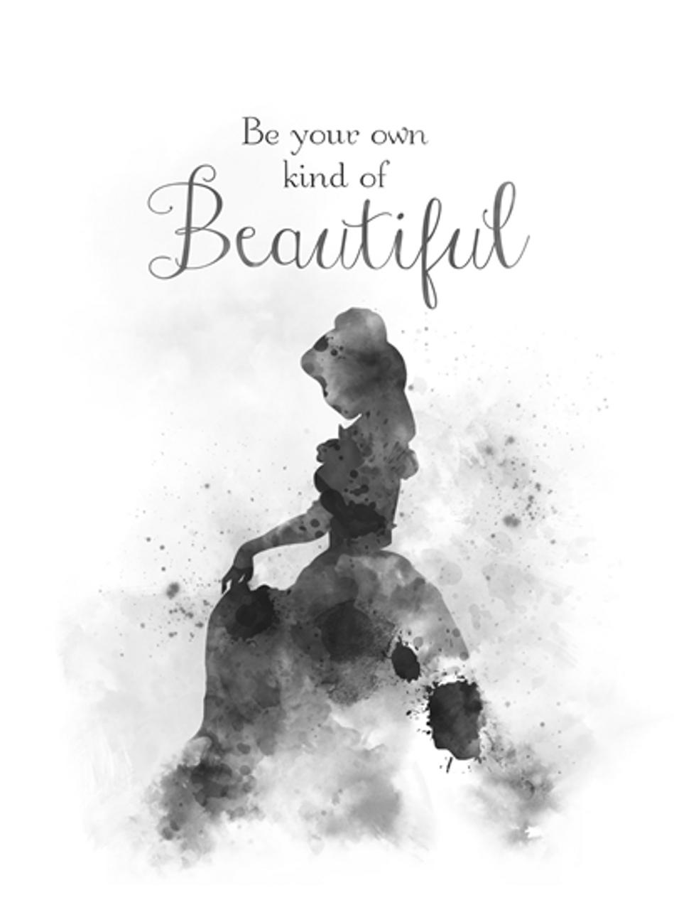 Belle quote black and white