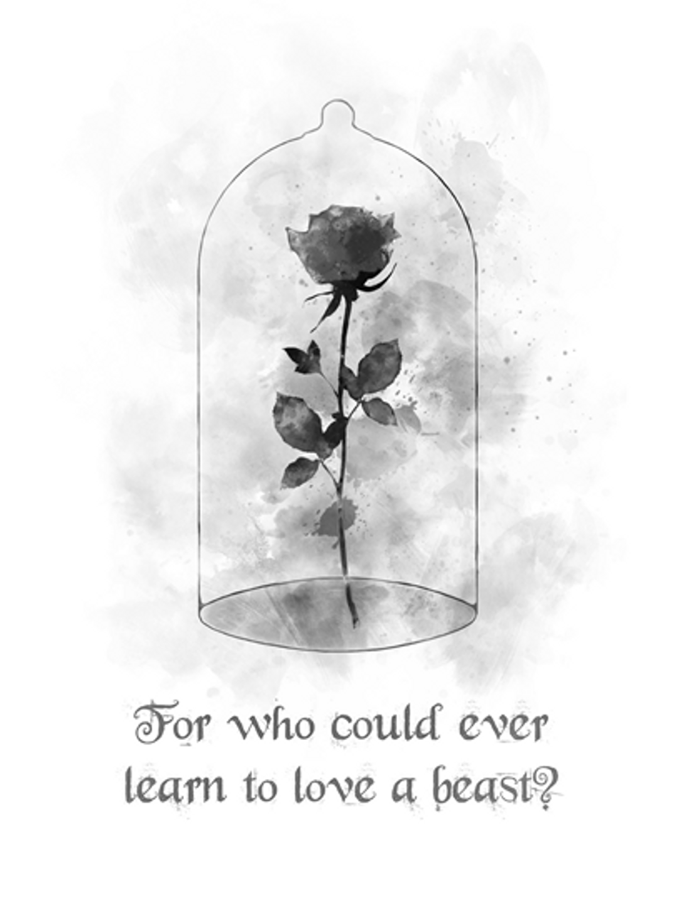 Enchanted rose quote