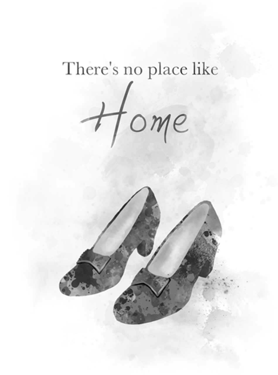 There Is No Place Like Home 2020.Wizard Of Oz Quote Art Print Dorothy Shoes There S No Place Like Home Gift Wall Art Home Decor Black And White