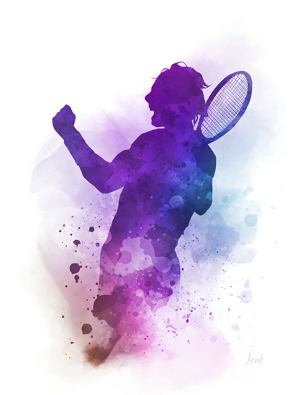 Rafa Nadal Art Print Tennis Sport Watercolour Gift Wall Art Home Decor My Subject Art