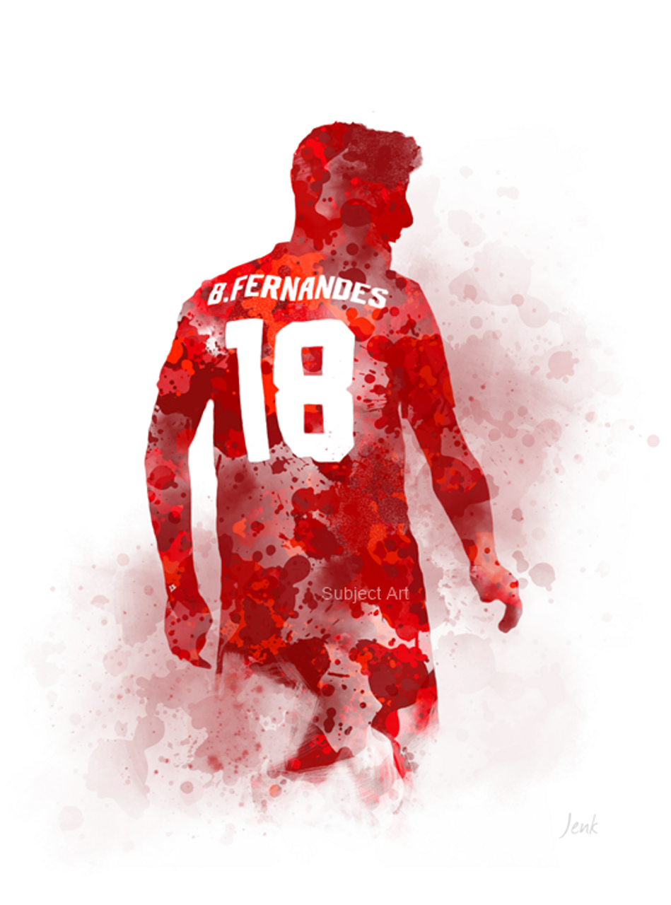 Manchester United Art Print Juan Mata Illustration Gift Football Wall Art