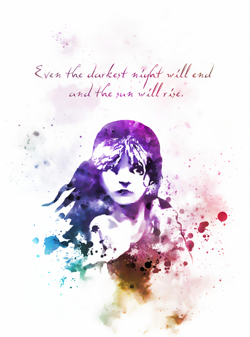 Les Miserables Victor Hugo Quote ART PRINT Musical, Theatre, Broadway, West  End, Gift, Wall Art, Home Decor