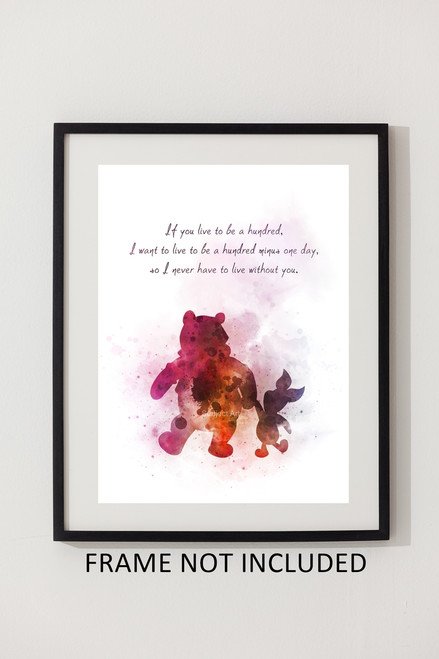 Winnie The Pooh And Piglet Quote Art Print Gift Wall Art Home