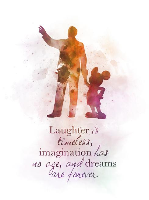 Walt Disney Mickey Mouse Quote ART PRINT Nursery, Gift, Wall Art, Home Decor