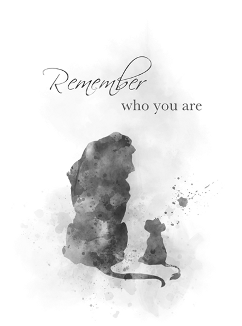 The Lion King Quote Art Print Remember Who You Are