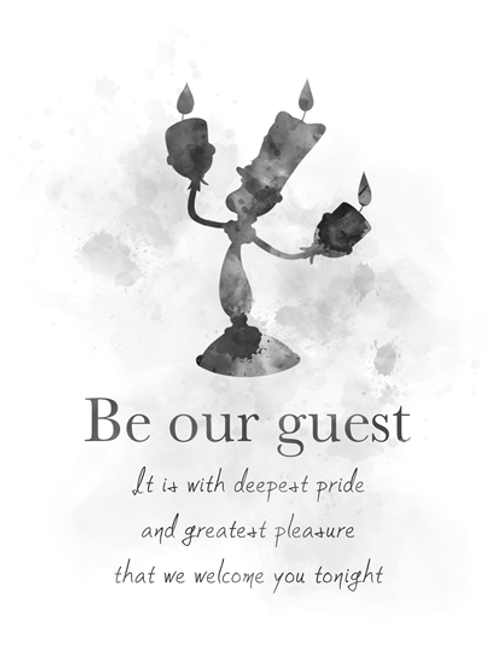 Beauty And The Beast Quote Art Print Be Our Guest Lumiere
