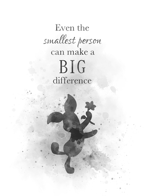 Piglet Quote ART PRINT Winnie the Pooh, Gift, Nursery, Wall Art, Home  Decor, Black and White