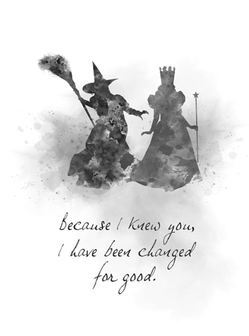 Glinda Good Witch Elphaba Quote ART PRINT Wicked, Theatre, Musical, Gift,  Broadway, West End, Wall Art, Home Decor, Black and White