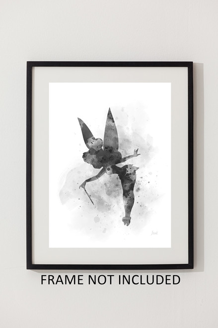 Disney Peter Pan Tinker Bell Pixie Dust Quote Black White A4 Print Art Gift Home