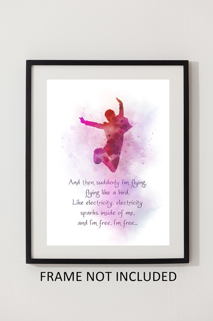 Billy Elliot Quote ART PRINT Musical, Theatre, Broadway, West End, Dance,  Gift, Wall Art, Home Decor