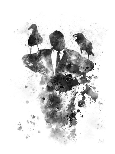 Alfred Hitchcock ART PRINT The Birds, Horror, Movie, Gift