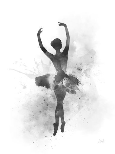 Ballerina Art Print Dance Ballet Dancer Gift For Her Wall Art Home Decor Black And White My Subject Art